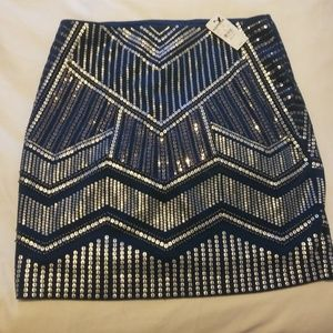 XS Express Skirt Sequin Party NWT